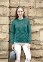 Hayfield Chunky with Wool - 7068 Jumper Knitting Pattern